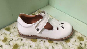 Froddo Infant Girls G3140059-3 Leather T-Bar Shoes White