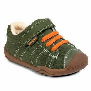 PediPed Childrens Toddler Jake Originals Trainers Olive Orange