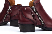 Load image into Gallery viewer, Pikolinos Women's W1U-8590 Leather Ankle Zip Boots Garnet