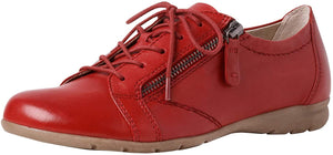 Jana Women's 23201-26 Leather Zip Sneakers Chilli Red