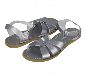 Salt-Water Adults Original Leather Sandals Pewter Grey