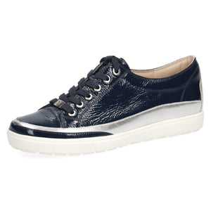 Caprice Women's 23654-26 Casual Leather Trainers Marine Blue Naplak