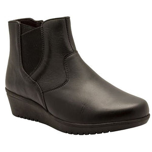 Easy B Women's Tornado Wide Fitting Ankle Boots Black