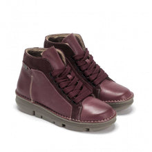 Load image into Gallery viewer, OnFoot Women's Touch Zen 29004 Leather Ankle Boots Burgundy