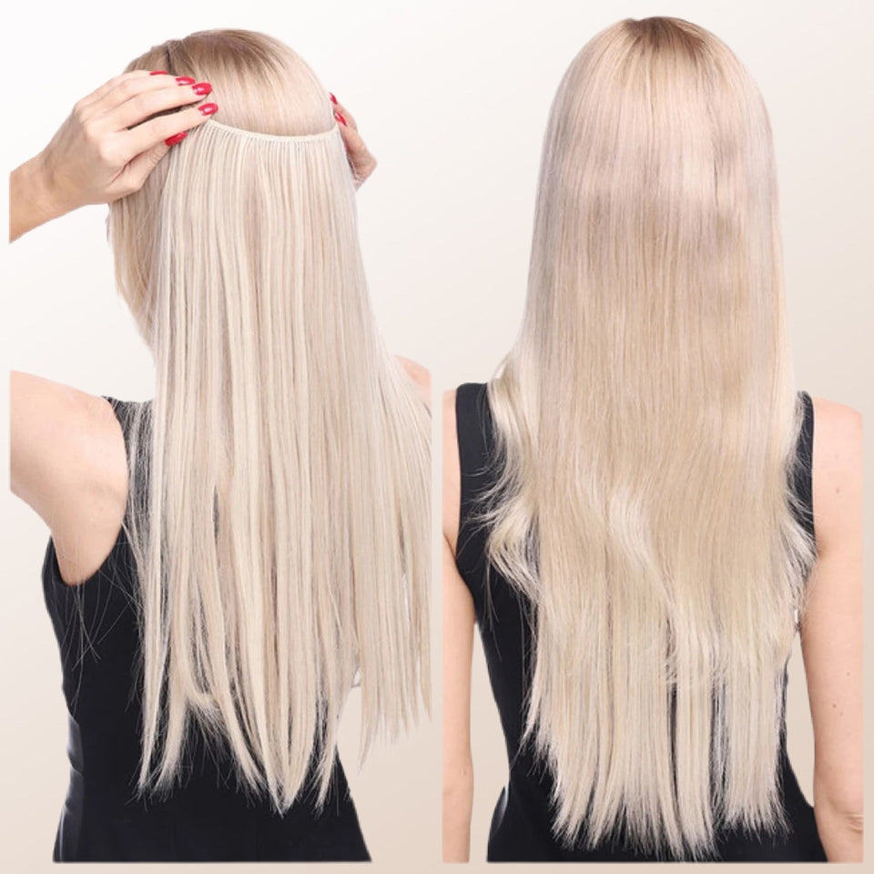 Microhair Aesthetics Hair Extensions Halo Hair 1 Minute Hair Clip In Hair