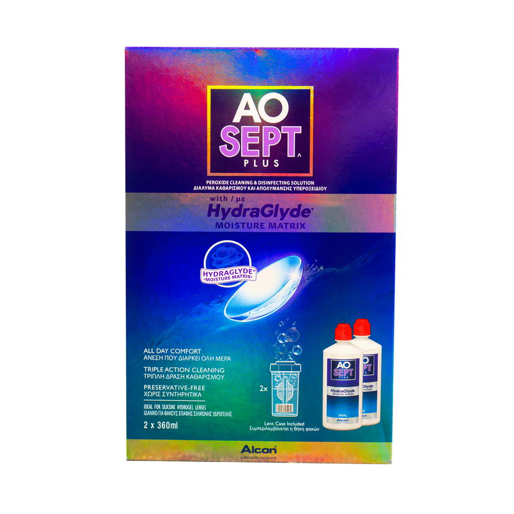 AoSept Plus HydraGlyde (2 X 360ml)
