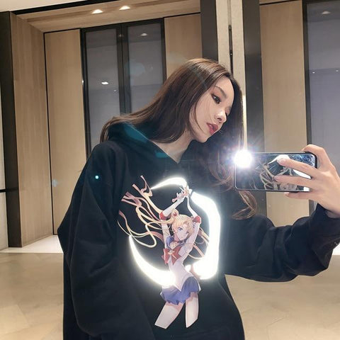 Reflective Sailor Moon Crescent Hoodie - cozy4life