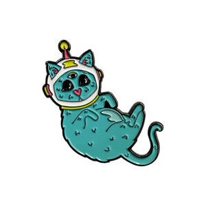 "Limited Edition ""Space Cat"" 1.75"" pin"