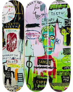 Jean-Michel Basquiat In Italian Skateboard Set