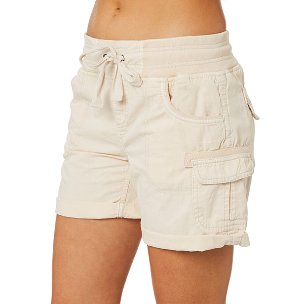 Women's Rolled Up Cuffs Cargo Shorts