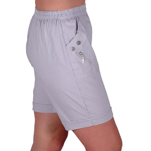 Relaxed Comfort Elasticized Flexi Stretch Ladies Shorts