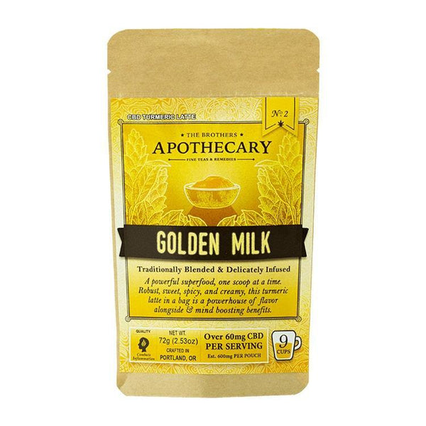 BROTHERS APOTHECARY - DRINK MIX - GOLDEN MILK TURMERIC LATTE - 540 MG - 9 SERVINGS - Daily Dose Plant-Based Health