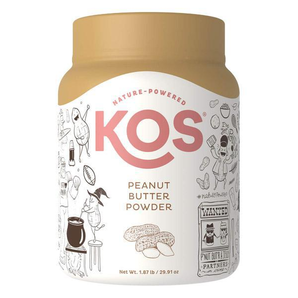 KOS - PEANUT BUTTER POWDER - 29.91 OZ - 53 SERVINGS - Daily Dose Plant-Based Health