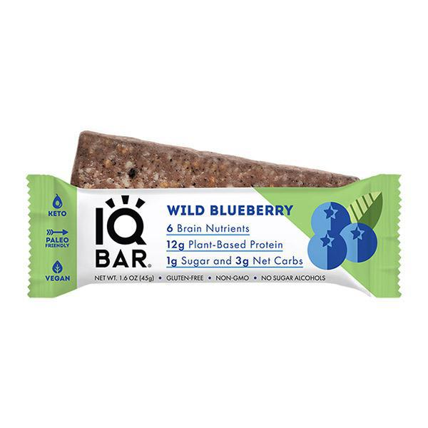 IQ BAR - WILD BLUEBERRY - Daily Dose Plant-Based Health