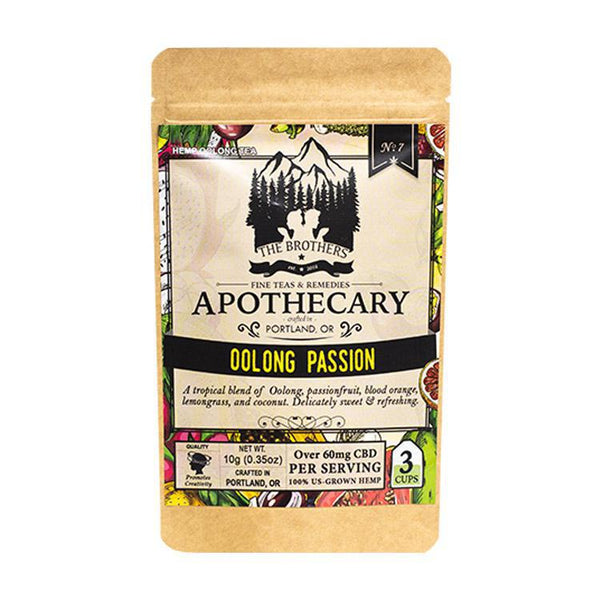 BROTHERS APOTHECARY - TEA - OOLONG PASSION - 3-PACK - 180 MG - Daily Dose Plant-Based Health