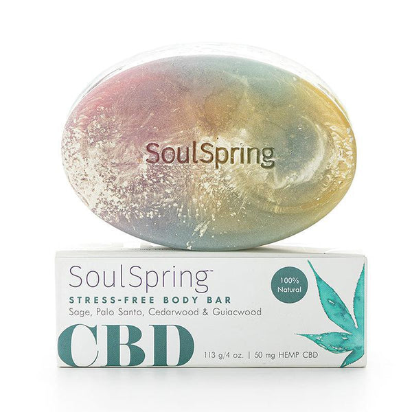 SOULSPRING - STRESS-FREE CBD BODY BAR - 50 MG - Daily Dose Plant-Based Health