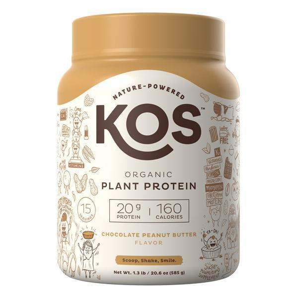 KOS - ORGANIC PLANT PROTEIN - CHOCOLATE PEANUT BUTTER - 20.56 OZ - 15 SERVINGS - Daily Dose Plant-Based Health