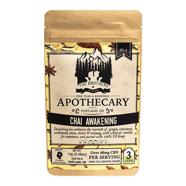 BROTHERS APOTHECARY - TEA - CHAI AWAKENING - 3-PACK - 180 MG - Daily Dose Plant-Based Health