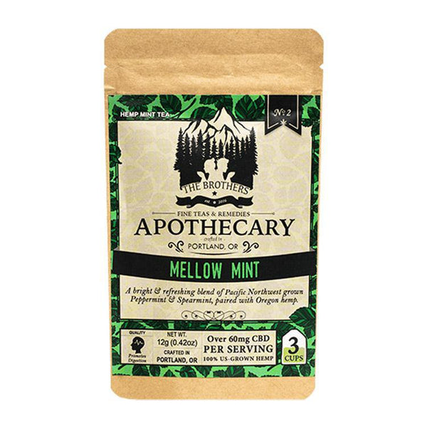 BROTHERS APOTHECARY - TEA - MELLOW MINT - 1-PACK - 60 MG - Daily Dose Plant-Based Health