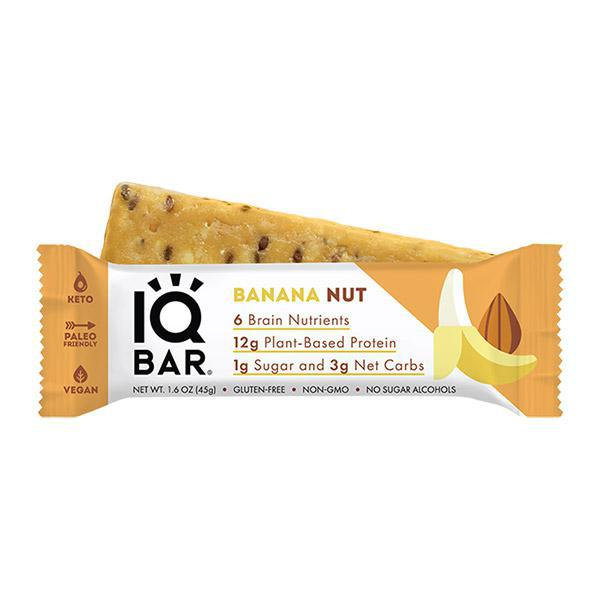 IQ BAR - BANANA NUT - Daily Dose Plant-Based Health