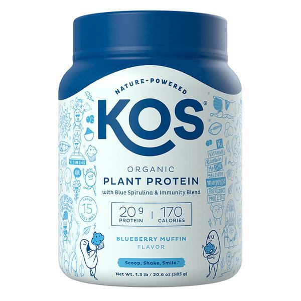 KOS - ORGANIC PLANT PROTEIN - BLUEBERRY MUFFIN - 20.6 OZ - 15 SERVINGS - Daily Dose Plant-Based Health