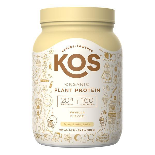 KOS - ORGANIC PLANT PROTEIN - VANILLA - 39.15 OZ - 30 SERVINGS - Daily Dose Plant-Based Health