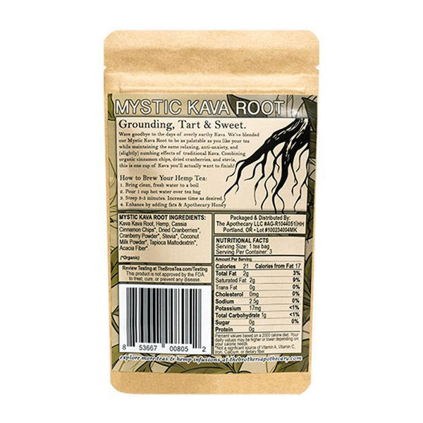 BROTHERS APOTHECARY - TEA - MYSTIC KAVA ROOT - 3-PACK - 180 MG - Daily Dose Plant-Based Health