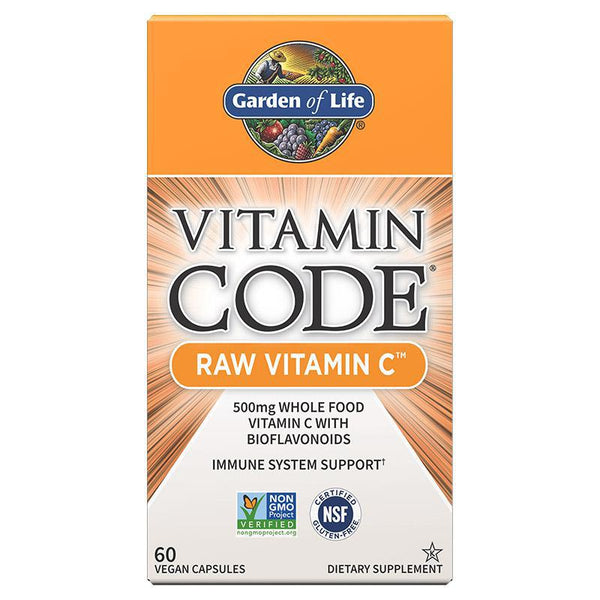 GARDEN OF LIFE - VITAMIN CODE - RAW VITAMIN C - 60 COUNT BOTTLE - Daily Dose Plant-Based Health