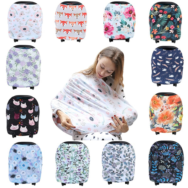 Multifunctional 5 in 1 Baby Trendy Scarf Breathable Cover