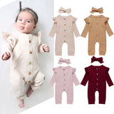 Baby Girl Knitted Romper Jumpsuit 2pcs