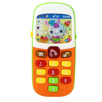Baby Smart Phone Toys with Sound & Flash Light Musical Cell Phone