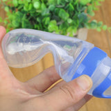 Silicone Baby Squeeze Feeding Bottle With Spoon