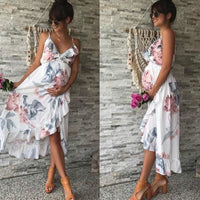 Flower sleeveless Maternity Dress
