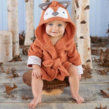 Baby Animal Character Square Hooded Bath Towel Set