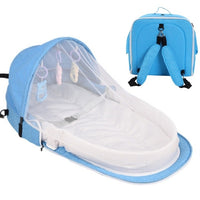 Infant Sleeping Basket Travel Bassinet Foldable Baby Bed