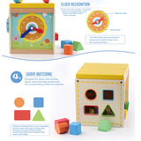 Baby Wooden Montessori Educational Toy (5 in 1)