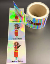 Load image into Gallery viewer, #NativeWoke Hologram Stickers