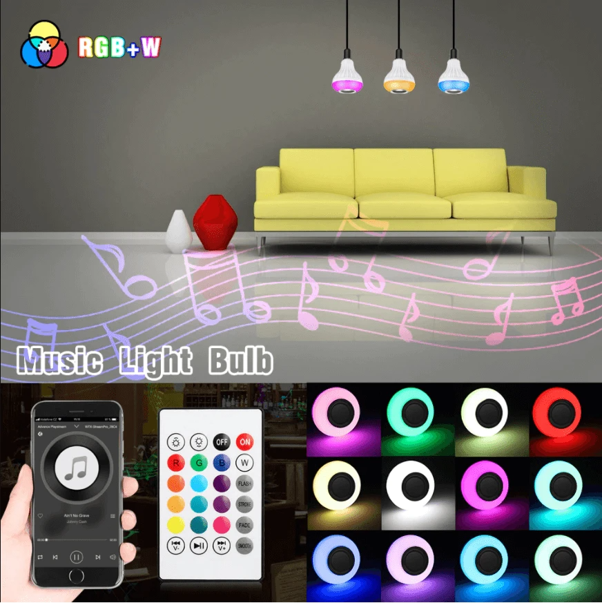 MULTICOLOR LED LIGHT SPEAKER BULB