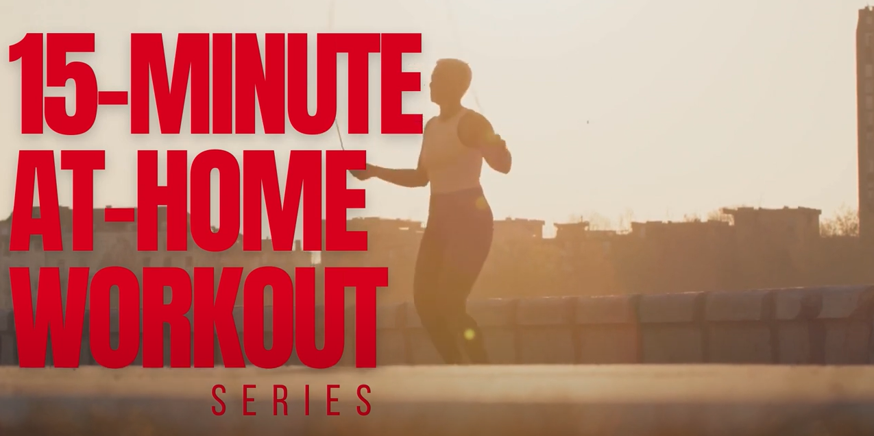 15-minute at home workout cover photo