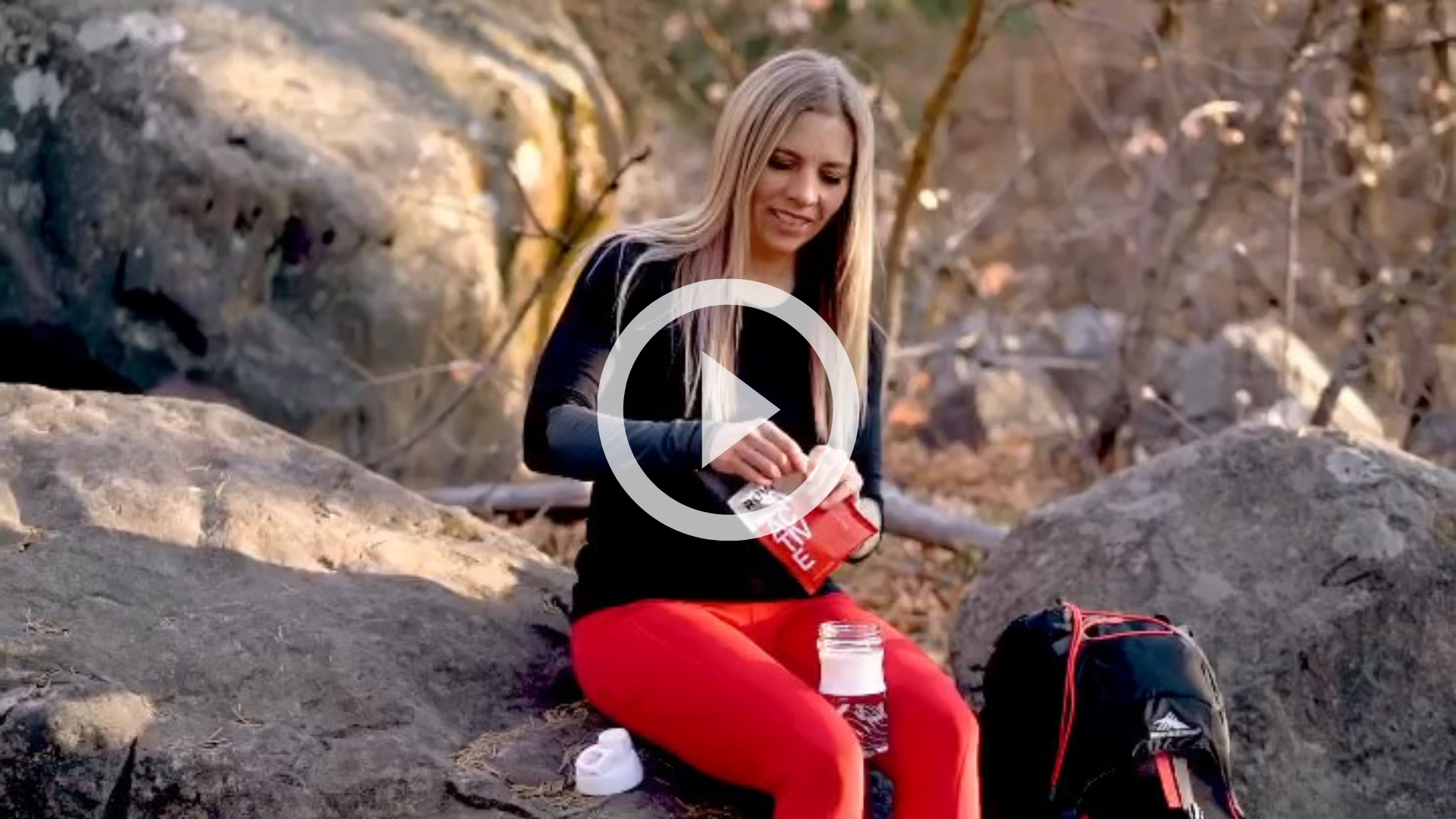 Tedi Searle the endorphin junkie backpacking in the mountains with Ruvi