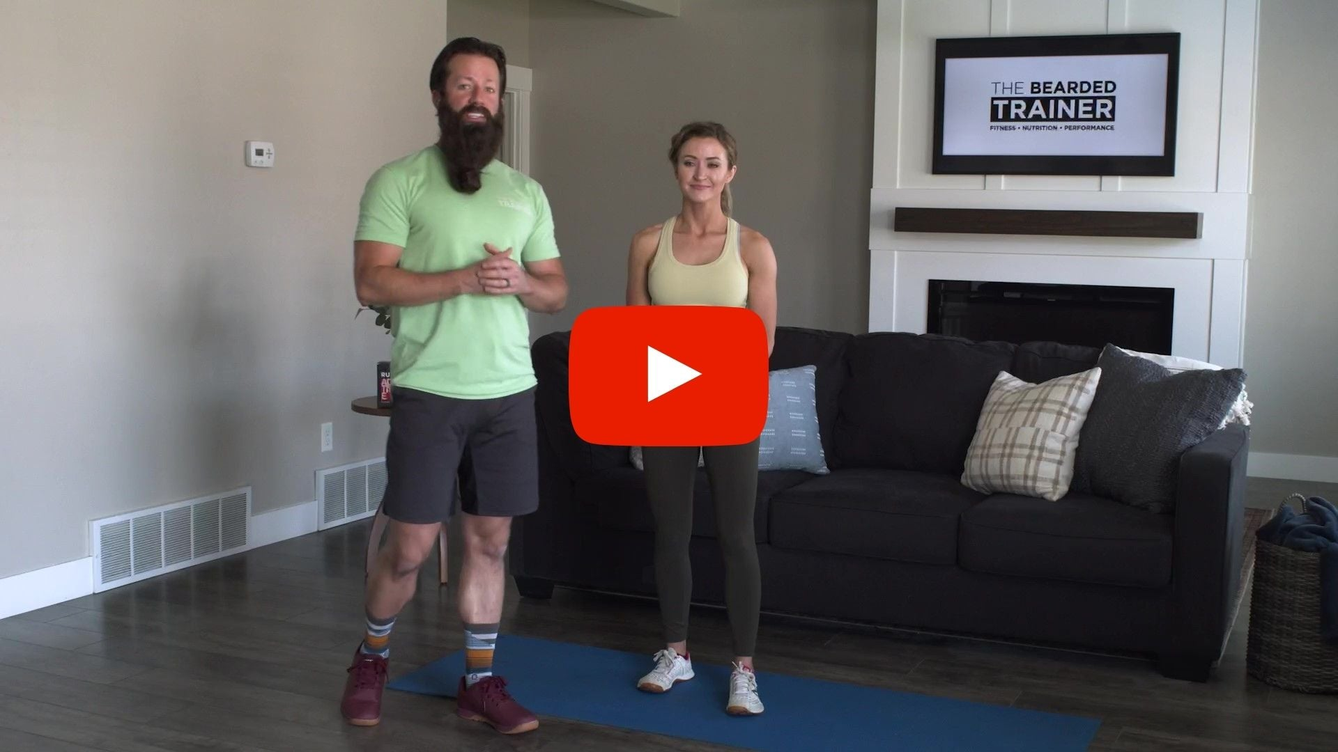 15 minute full body workout with The Bearded Trainer - Kyle & Shallan standing next to each other
