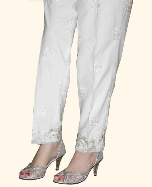 Queen White TROUSER