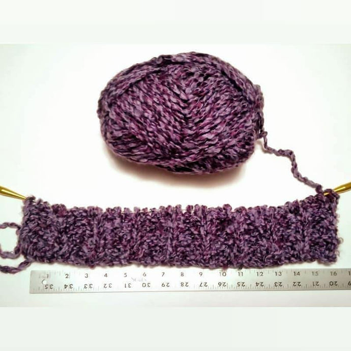 Purple Yarn Project Step Two