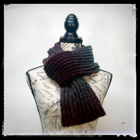 """The new """"Bordeauxlicious"""" Hand-knit Scarf image."""
