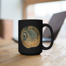Load image into Gallery viewer, Moon Snail Shell Black & Rust Black Ceramic Mug 15oz