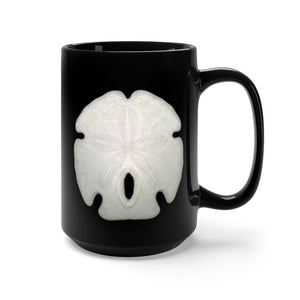 Arrowhead Sand Dollar Black Ceramic Mug 15oz