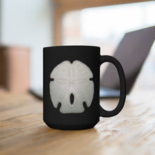 Load image into Gallery viewer, Arrowhead Sand Dollar Black Ceramic Mug 15oz