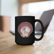 Load image into Gallery viewer, Scallop Shell Magenta Black Ceramic Mug 15oz