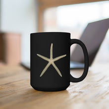 Load image into Gallery viewer, Finger Starfish Black Ceramic Mug 15oz
