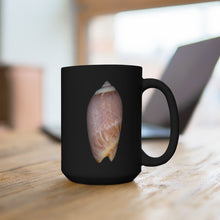 Load image into Gallery viewer, Olive Snail Shell Brown Black Ceramic Mug 15oz